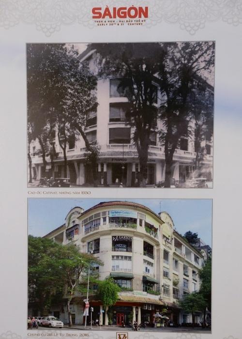 Trong khi đó, chung cư Catinat năm 1930 năm ở góc đường Catinat - La Grandìere (nay là Đồng Khởi - Lý Tự Trong) vẫn còn nguyên vẹn. Tòa nhà này được xây dựng năm 1926, từng là Lãnh sự quán Mỹ những năm 1930. Chung cư này nằm ngay cạnh tòa nhà của CIA, nơi chiếc trực thăng cuối cùng của Mỹ rời Việt Nam năm 1975.