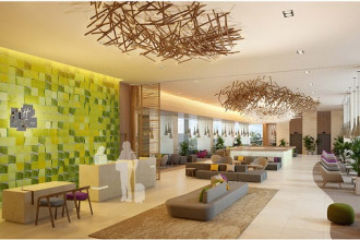 Toà tháp A là khách sạn quốc tế Holiday Inn & Suites Saigon Airport với 350 phòng theo tiêu chuẩn 5 sao.