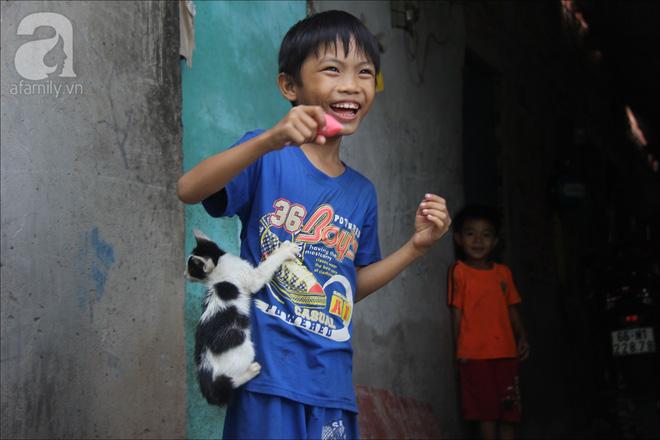 Bé mèo luôn được An cưng chiều, bám An như keo.