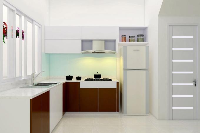 Ngôi nhà sử dụng tông màu trắng và một số chi tiết gỗ nâu giúp không gian có cảm giác rộng rãi hơn.