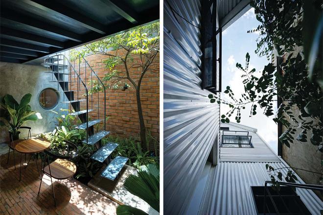 """Nhìn vào ngôi nhà, bất cứ ai cũng dễ dàng nhận thấy KTS muốn tạo ra sự kết nối ở các không gian chung như """"nhà bếp"""", """"nhà ăn"""", cùng chia sẻ mảng xanh công cộng… nhưng hoàn toàn riêng tư trong các """"nhà ngủ"""" của mình."""