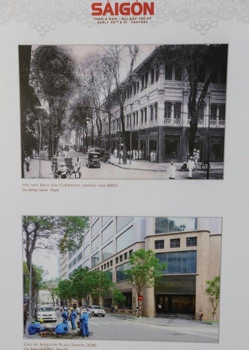Khách sạn Sheraton ngày nay được xây dựng trên nền của tòa nhà bách hóa Catinat, cao ba tầng. Đây là tiệm bách hóa đầu tiên của Sài Gòn, thành lập năm 1885. Sau năm 1995, bách hóa trở thành nhà trưng bày hàng xuất khẩu của Bộ kinh tế Việt Nam Cộng Hòa, năm 1967 lại chuyển thành Thương xá Sài Gòn Departo. Đến năm 1998, tòa nhà bị phá bỏ để xây khách sạn.