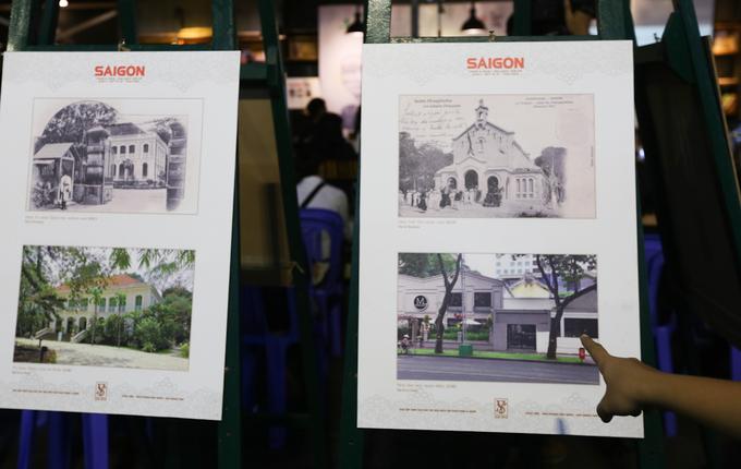 Ảnh bên trái là Lãnh sự quán Pháp, được xây dựng năm 1972, từng là dinh của Tư lệnh Quân đội Pháp và trụ sở của Đại sứ quán Pháp trong thời Việt Nam Cộng Hòa. Còn toàn bộ khuôn viên của Nhà văn hóa quận 1 ngày nay, trước kia là không gian của một nhà thờ Tin lành, xây dựng năm 1905.