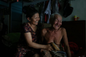 """Bức ảnh đoạt giải 3 chủ đề """"Nụ cười Sài Gòn"""" của tác giả Liêu Lãm."""