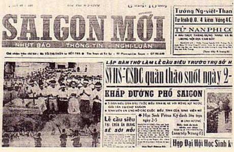 Nhật báo Saigon Mới của ông bà Bút Trà