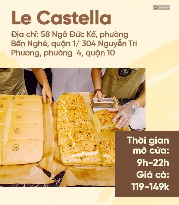 Góp phần tạo nên cơn sốt bánh bông lan phô mai tại phố đi bộ, Le Castella và Tai Yang King Castella là hai cái tên được giới trẻ đặt lên bàn cân so sánh. Le Castella