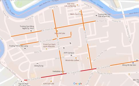 Khu Tân Định được đặt tên theo danh tướng thời Trần ẢNH CHỤP MÀN HÌNH GOOGLE MAPS