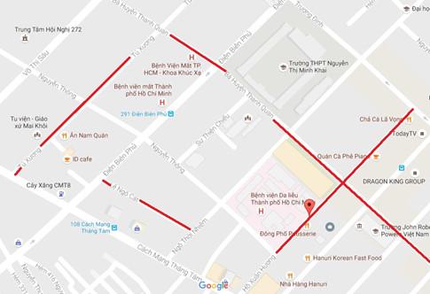 Tên đường theo cụm thi sĩ tại quận 3 ẢNH CHỤP MÀN HÌNH GOOGLE MAPS