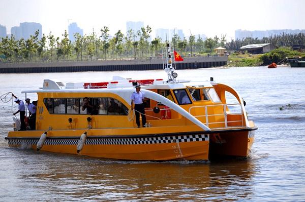 Hành khách sẽ được miễn phí vé trong 10 ngày đầu đi lại trên tuyến tàu buýt đường thủy số 1, vận hành ngày 25.11