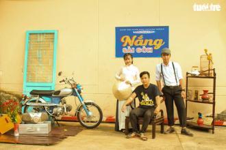 Người đến hiến máu sẽ được thỏa thích chụp ảnh lưu niệm trong không gian độc đáo mang phong cách Sài Gòn xưa do các tình nguyện viên thực hiện – Ảnh: MAI PHƯƠNG