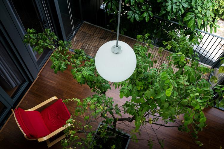 Cây xanh tuyệt đẹp làm ngôi nhà thêm sang trọng.