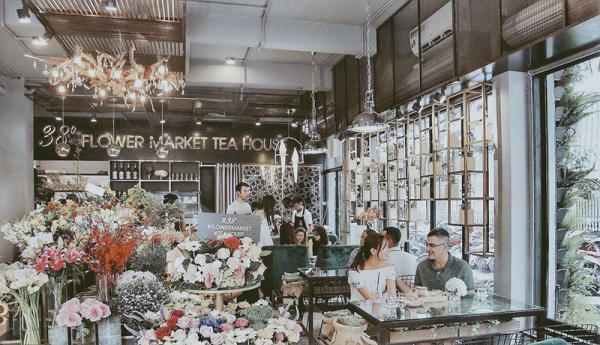 Không gian thiết kế mô phỏng theo một tiệm trà ở các nước phương Tây (Nguồn: 38 Flower Market Tea House)