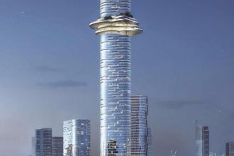 Tòa tháp Empire88 sẽ trở thành cao nhất Việt Nam sau khi hoàn thành. Ảnh: Dezeen