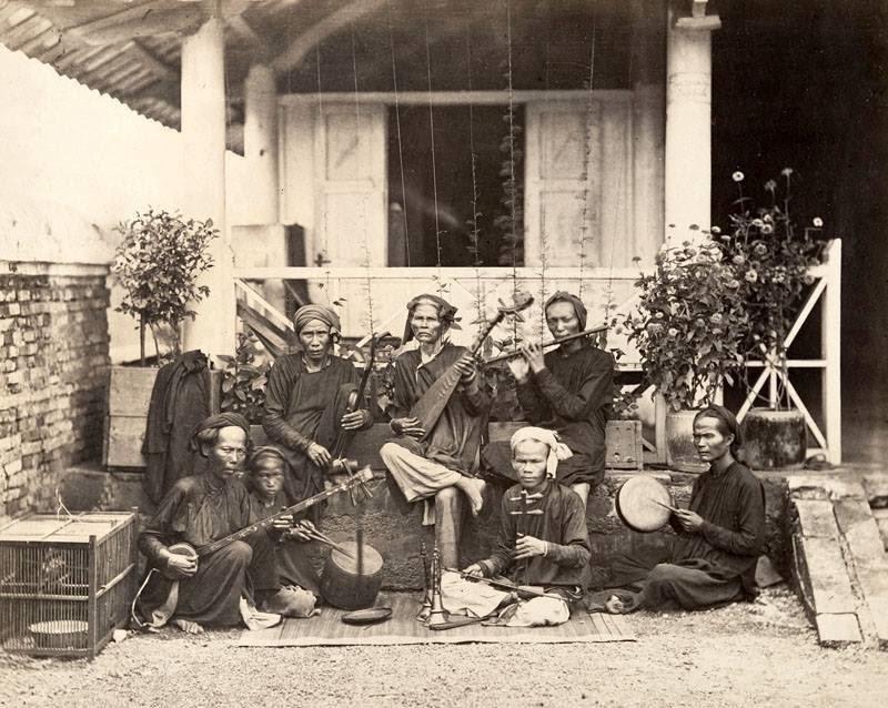 Những nhạc công ở Saigon năm 1866. (Ảnh: Internet)
