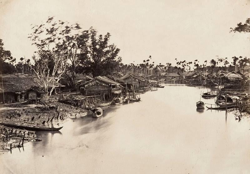 Chợ Lớn Saigon năm 1866, lúc này còn hoang sơ như một vùng quê. (Ảnh: Internet)