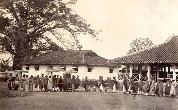 Một đám cưới ở Saigon năm 1866. (Ảnh: Internet)