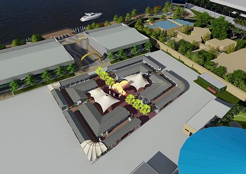 Làng ẩm thực với nhiều món ngon của cả 3 miền và các thương hiệu ẩm thực nước ngoài. Kenton Node đang hoàn thiện khu phố ẩm thực, dự kiến đưa vào hoạt động vào ngày 20/11..