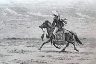 Ngựa là phương tiện chuyển phát có lịch sử hàng nghìn năm ở Việt Nam. Vào thời thuộc địa, dịch vụ chuyển phát vẫn phụ thuộc nhiều vào loài vật này, đặc biệt là tại các vùng nông thôn. Ảnh: Belle Indochine.