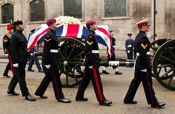 Đám tang của bà Margaret Thatcher (Ảnh: Flickr, Chris Beckett)