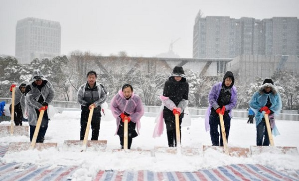 Tuyết Thường Châu đã ngừng rơi. Ảnh: Sina.
