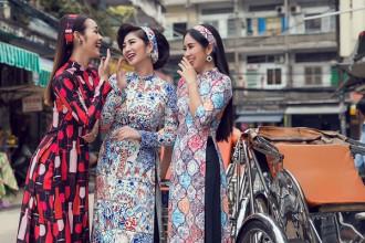 Thành công của bộ phim điện ảnh Cô ba Sài Gòn do Ngô Thanh Vân sản xuất đã đưa kiểu áo dài tân thời những năm 60 trở lại đầy ngoạn mục.