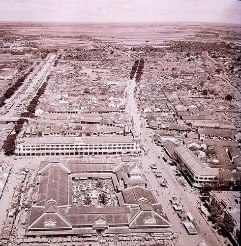 Một bức không ảnh khác về chợ Bình Tây năm 1955. Ảnh tư liệu.