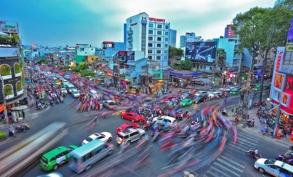 Giải nhì: Sài Gòn tấp nập -  tác giả Nguyễn Thị Ngọc Thảo
