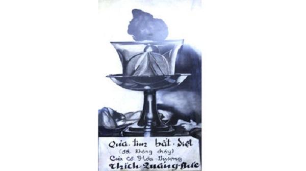 Trái tim bất tử của Bồ tát Thích Quảng Đức (chụp lại từ chùa Quán Thế Âm) - Ảnh tư liệu
