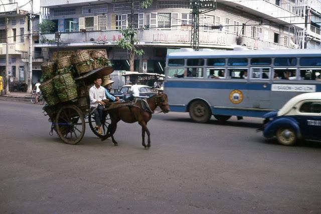 Ngày nay, hình ảnh những chiếc xe thổ mộ trên đường phố Sài Gòn chỉ còn là dĩ vãng. Ảnh tư liệu.