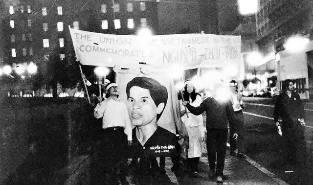 Lễ truy điệu Nguyễn Thái Bình ở California - Ảnh tư liệu gia đình