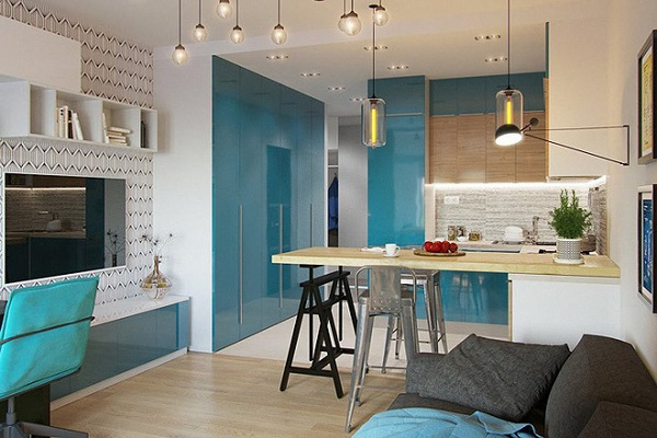 Các kiến trúc sư đã thiết kế nên căn hộ vừa đảm bảo những nhu cầu cuộc sống mà vẫn phù hợp với sinh viên hoặc cặp vợ chồng trẻ.