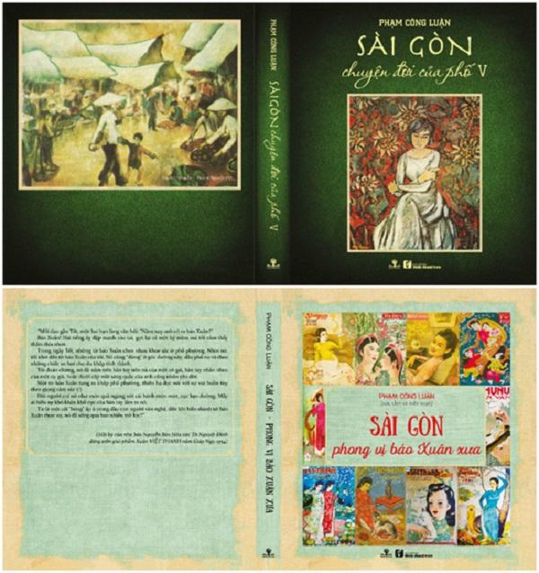 Bìa hai ấn phẩm về Sài Gòn xưa của nhà báo Phạm Công Luận.