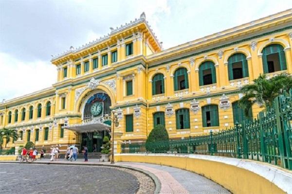Bưu điện Trung tâm Sài Gòn tại Thành phố Hồ Chí Minh. Ảnh: Straitstimes