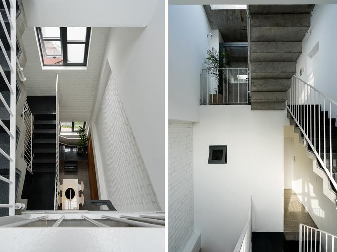 Ngôi nhà có 4 tầng dạng ống nhưng mọi ngóc ngách trong nhà đều có ánh sáng, không cần bật đèn vào ban ngày.