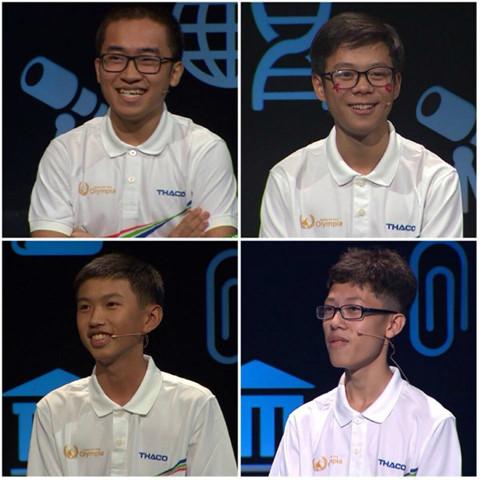 4 thí sinh tham gia cuộc thi quý 2 (ẢNH: CHỤP MÀN HÌNH TI VI)