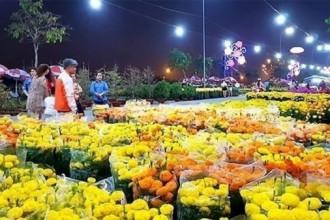 Khách tham quan gian hàng hoa tại Chợ hoa Xuân Bình Điền 2018. Ảnh: Báo Sài Gòn giải phóng