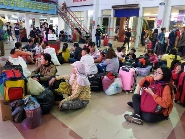 Ga Sài Gòn luôn đông đúc hành khách những ngày giáp Tết. Ảnh: Tri thức trực tuyến