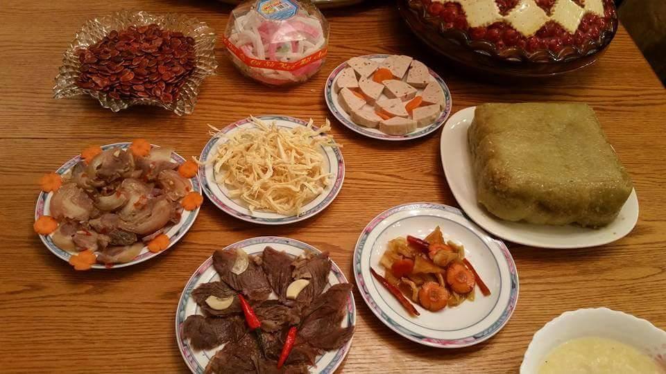 Các món ăn truyền thống trong ngày Tết.