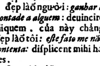 Nội dung cuốn Tự điển Dictionarium Annamiticum Lusitanum et Latinum