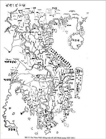 Bản đồ Đại Nam thống nhất toàn đồ thời Vua Minh Mạng