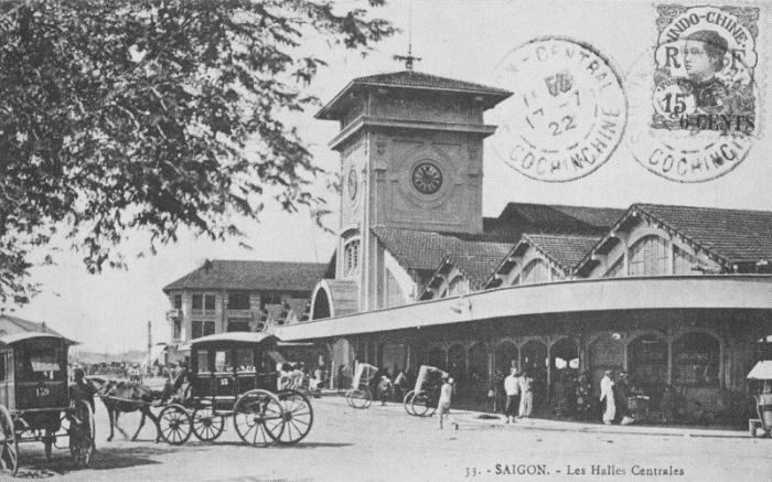 Chợ Bến Thành xưa.