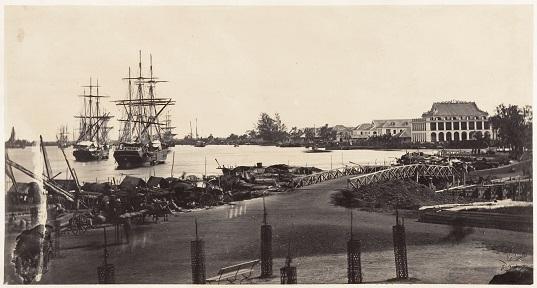 Cảng Sài Gòn giữa thế kỷ 19.