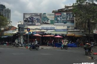 Chợ Dân Sinh nằm ngay trung tâm quận 1, TP.HCM và được bao quanh bởi 4 con đường Nguyễn Thái Bình, Yersin, Nguyễn Công Trứ và Ký Con.