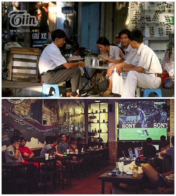 Dù thời gian trôi qua nhưng thói quen thưởng thức cà phê của người dân vẫn không hề thay đổi