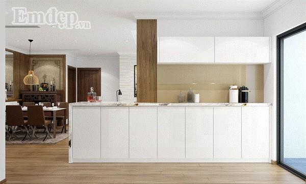 Nội thất căn bếp hiện đại, sắp đặt thông minh.