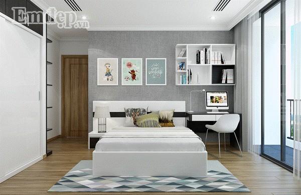 Phòng ngủ nhỏ xinh của cô con gái út.