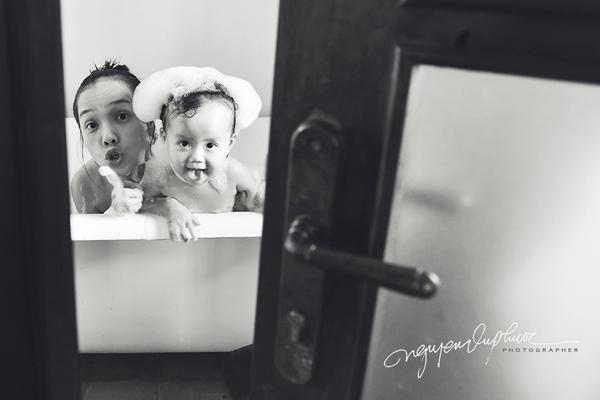 Phải mất 2 tuần anh Nguyễn Vũ Phước mới hoàn thành được bộ ảnh tặng vợ con.