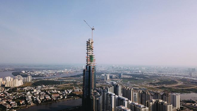 Công trình toà nhà cao nhất Việt Nam dự kiến sẽ được hoàn thành toàn bộ tổ hợp vào cuối năm 2018