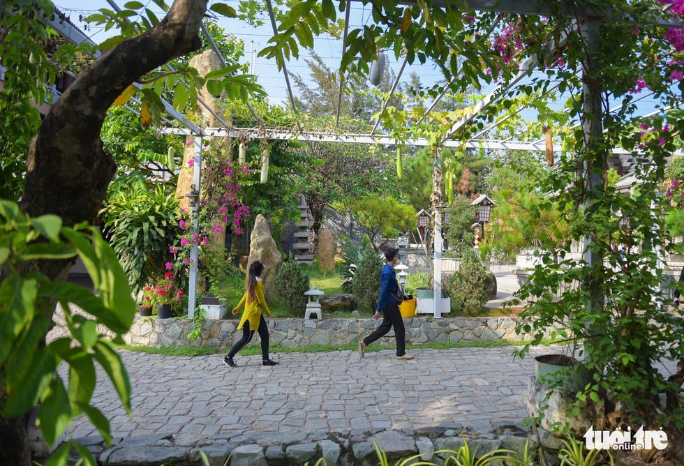 Khuôn viên bao quanh tu viện xanh mát khiến du khách tới nơi này cảm thấy thư thái, khác xa với vẻ ồn ào tấp nập của Sài Gòn - Ảnh: MINH HẢI