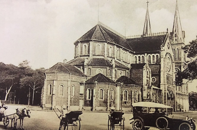 Hình ảnh nhà thờ Đức Bà xưa